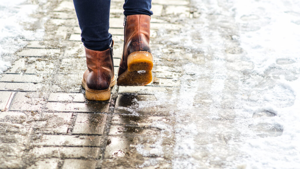 women with boots walking